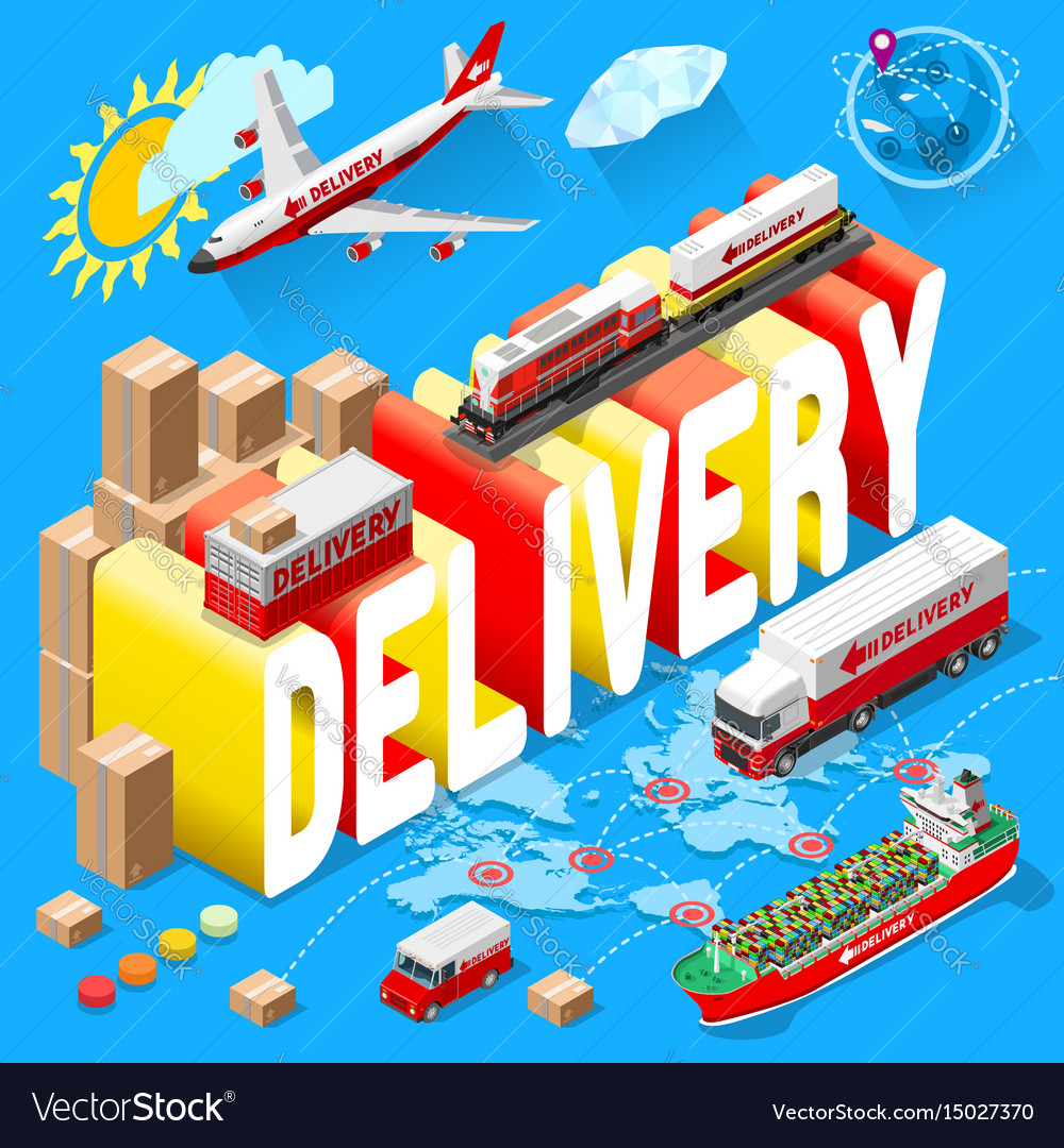 Banner for delivery services and web e-commerce vector image