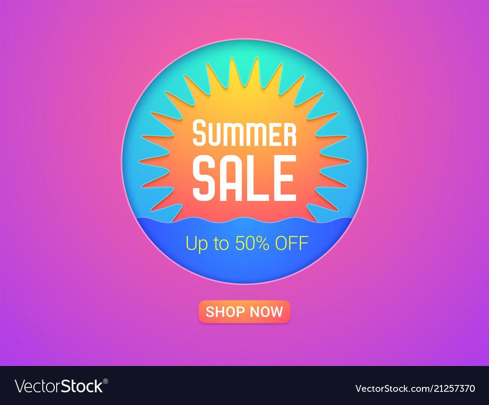 Banner of summer sale