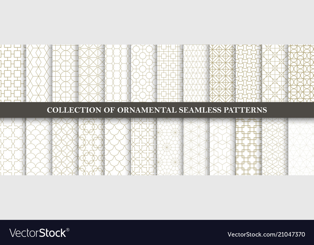 Collection of seamless ornamental patterns