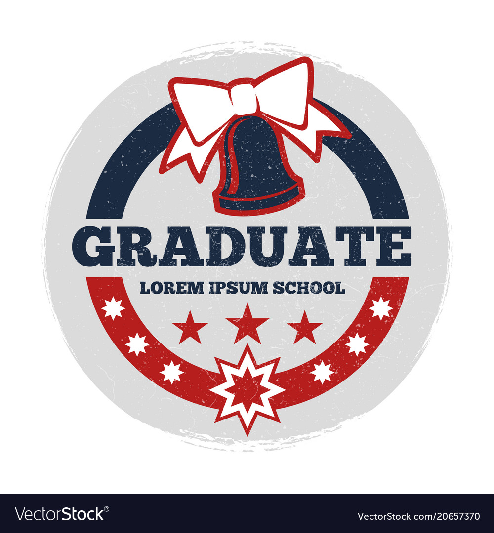 grunge students graduate banner royalty free vector image