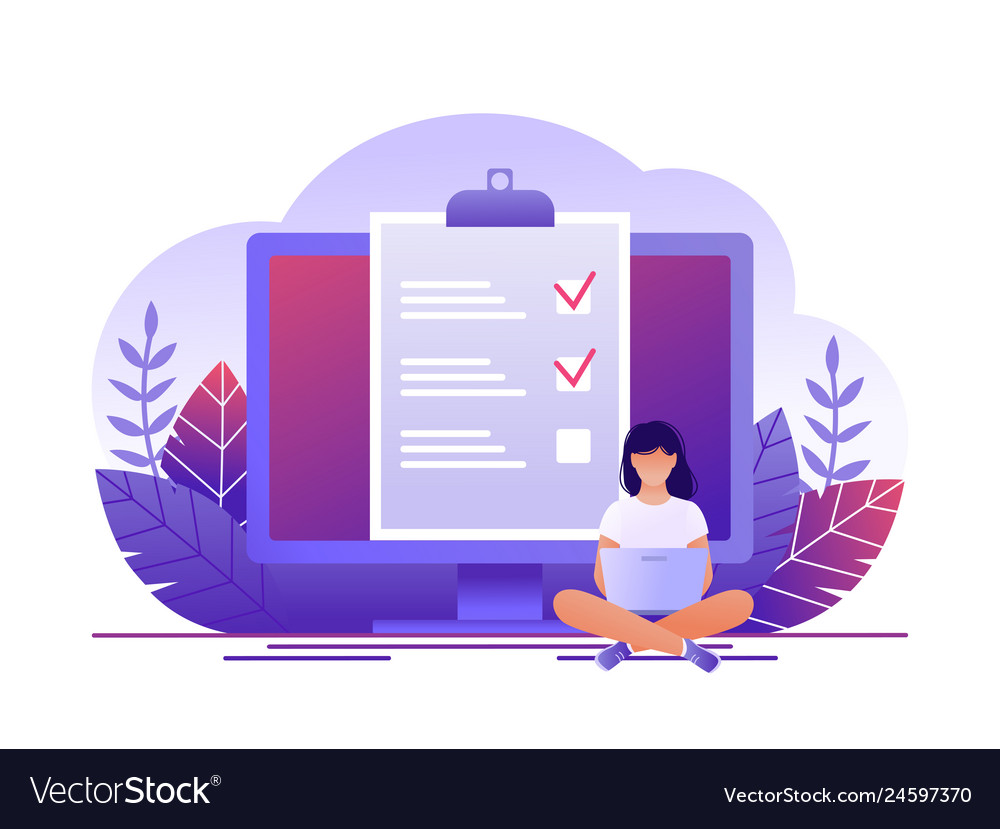 Month planning to do list time management woman