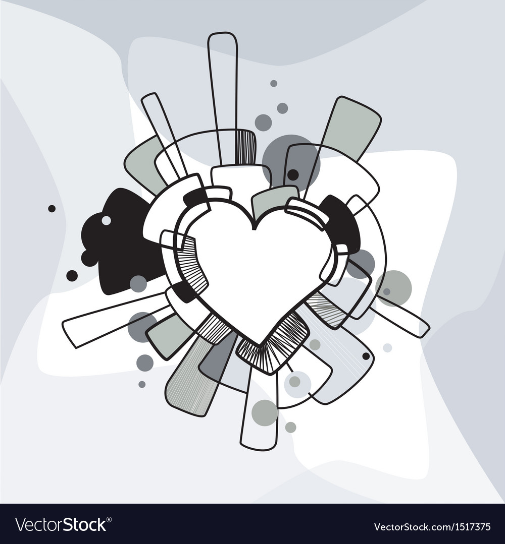 Abstract decorative heart vector image