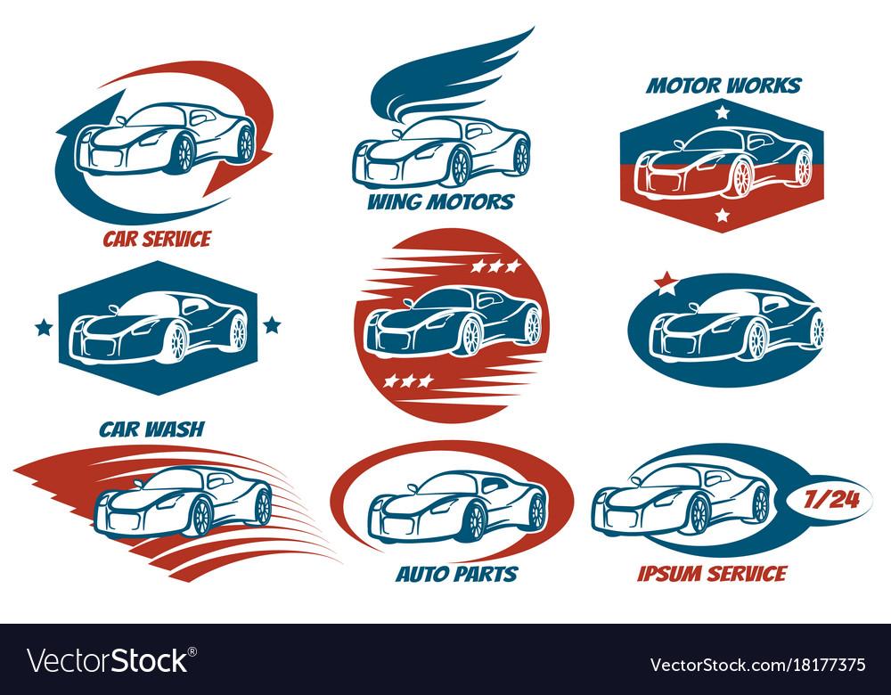 Car service emblem set
