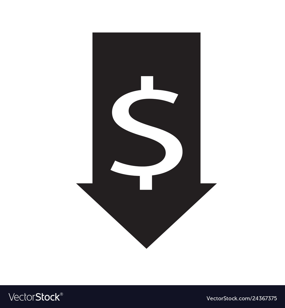 Decrease icon on white background flat style