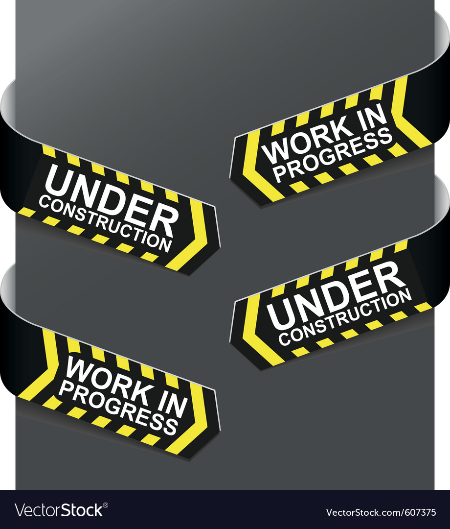 Left and right side signs - under construction