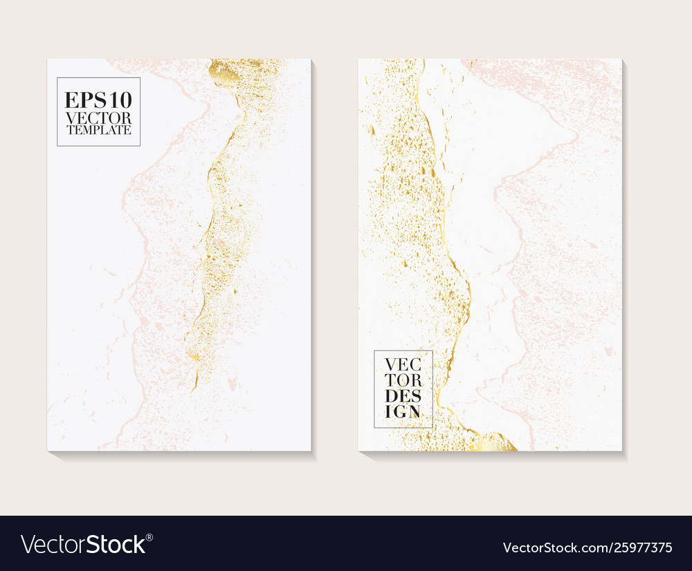 Luxury business cards with marble texture and