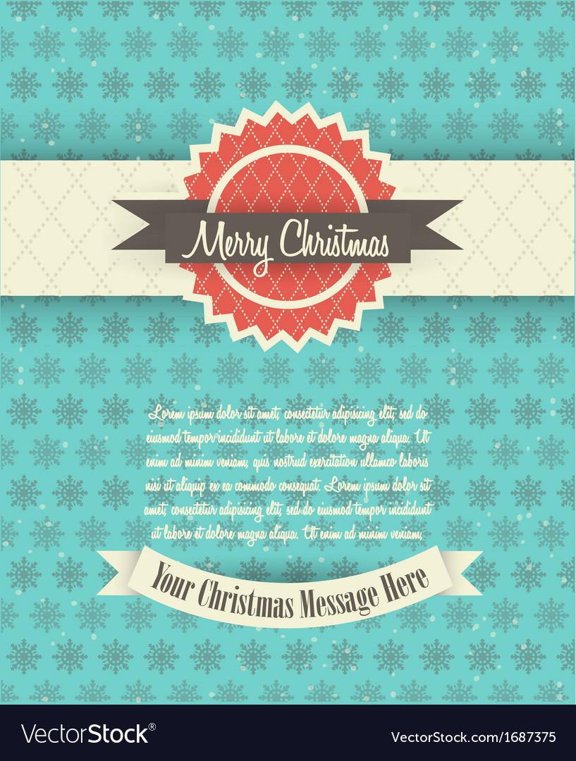 Retro Christmas Card Design