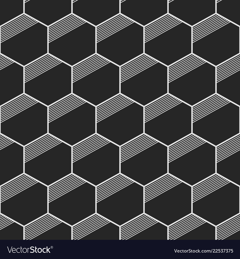 Seamless Geometric Abstract Patterns Of Hexagons