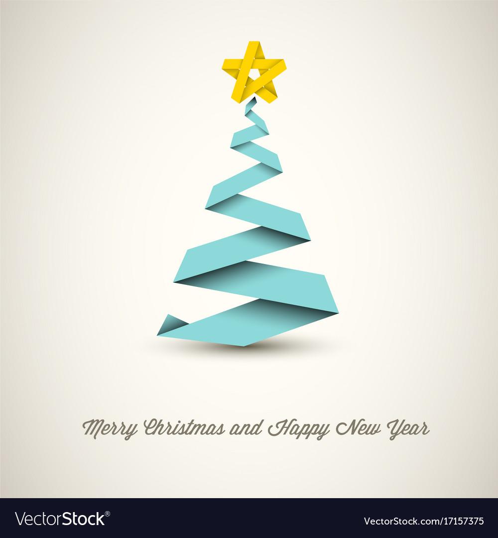 Новогодняя открытка елка зигзаг