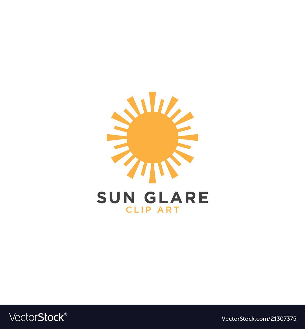 Sun glare graphic design template