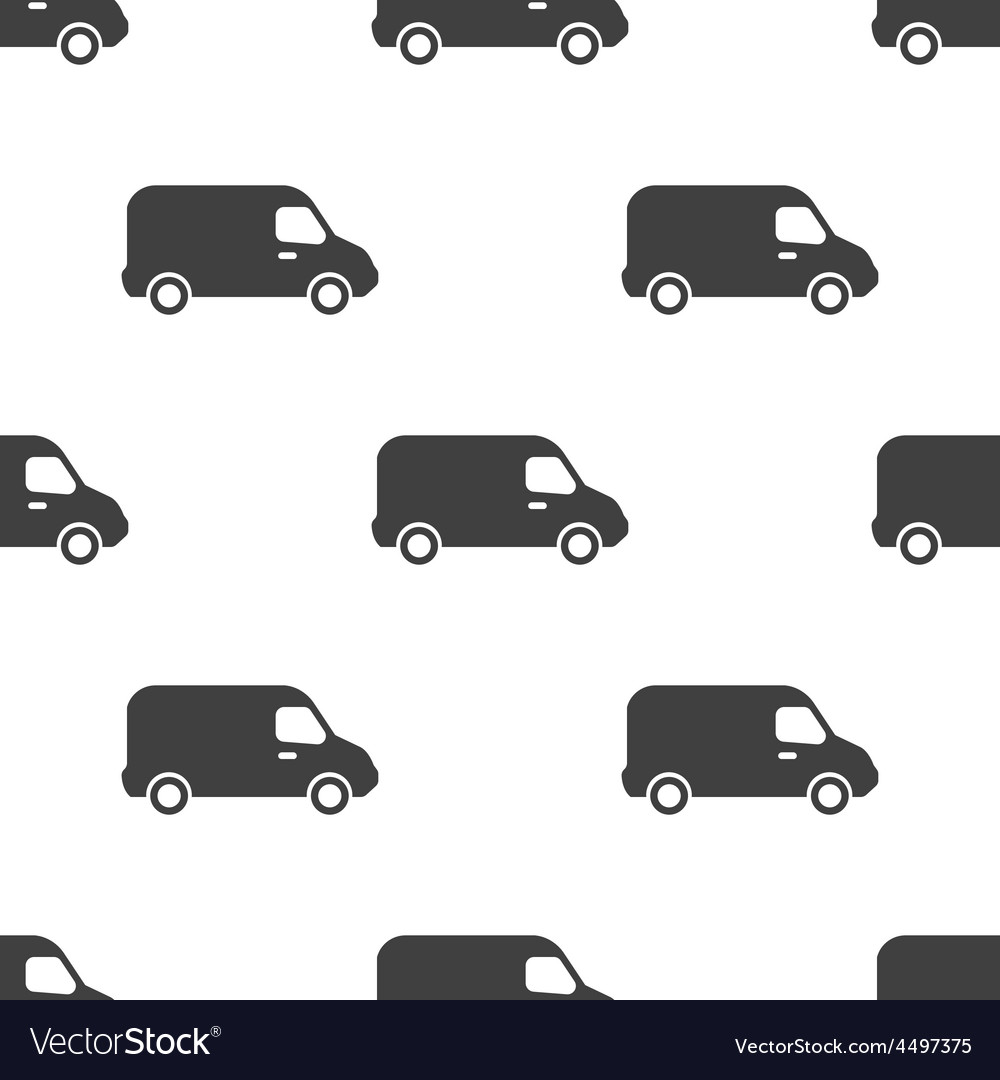 Van seamless pattern vector image