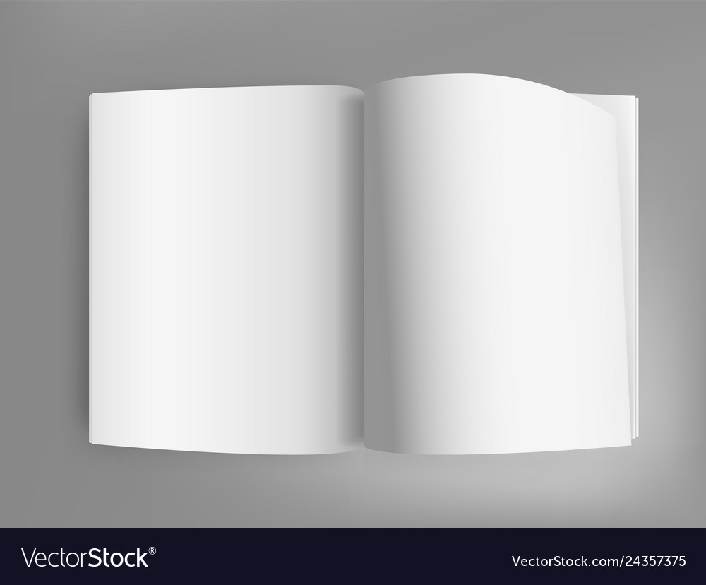 White open book on grey table