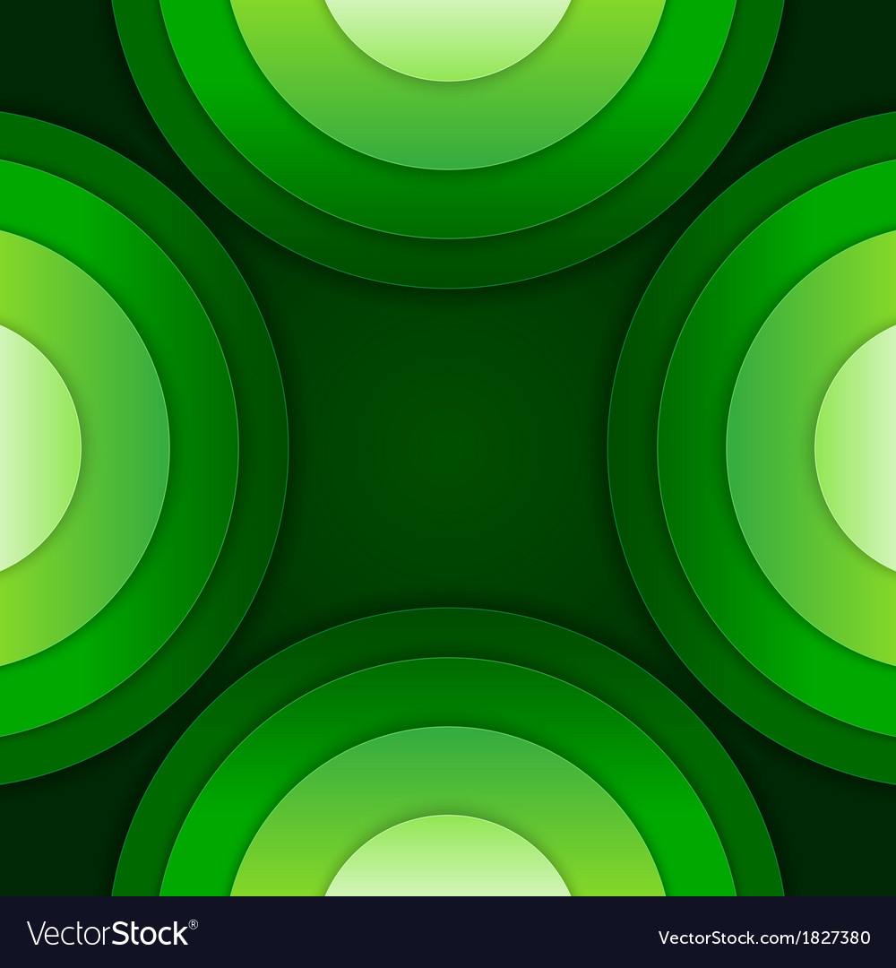 Abstract green paper circles background
