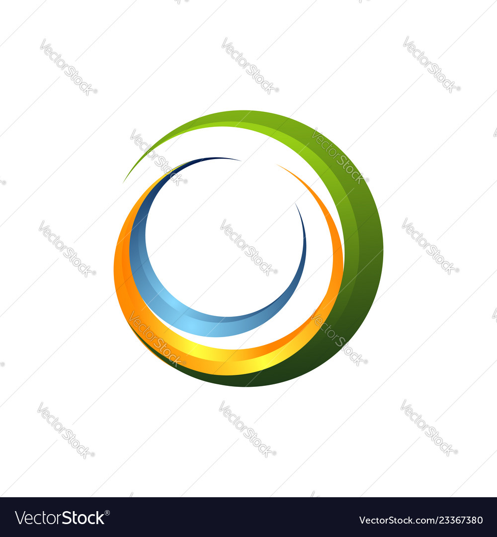 Abstract logo letter c and wave modern logo