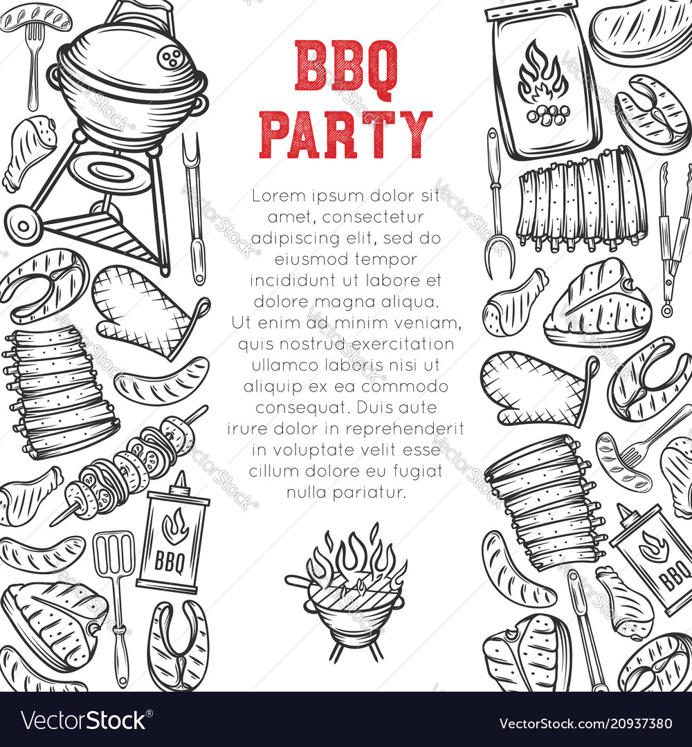 Barbecue page design