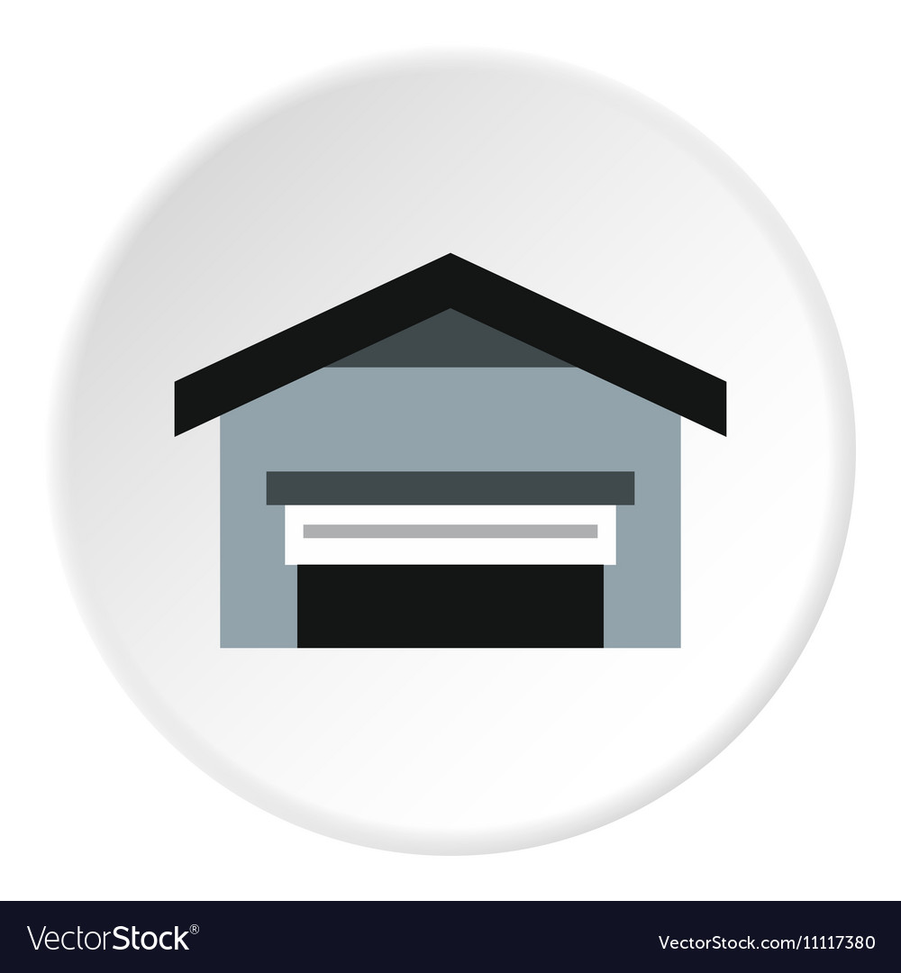 Garage with roof icon flat style vector image