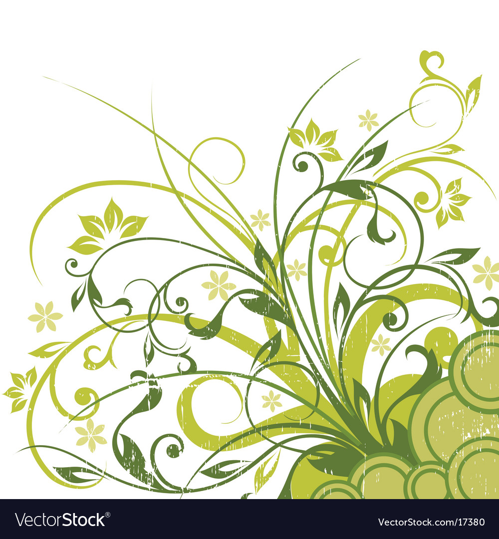 Graphic floral background vector image