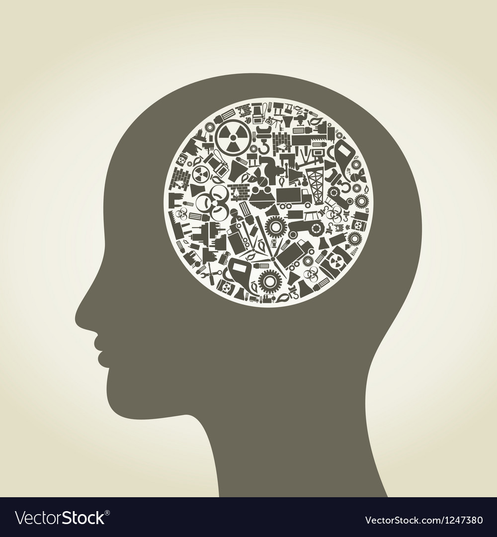 Head the industry2 vector image