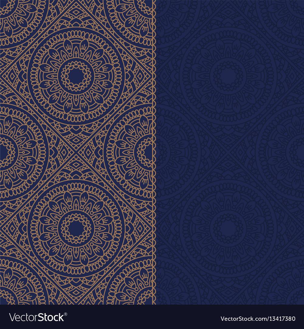 Oriental pattern with mandala vector image