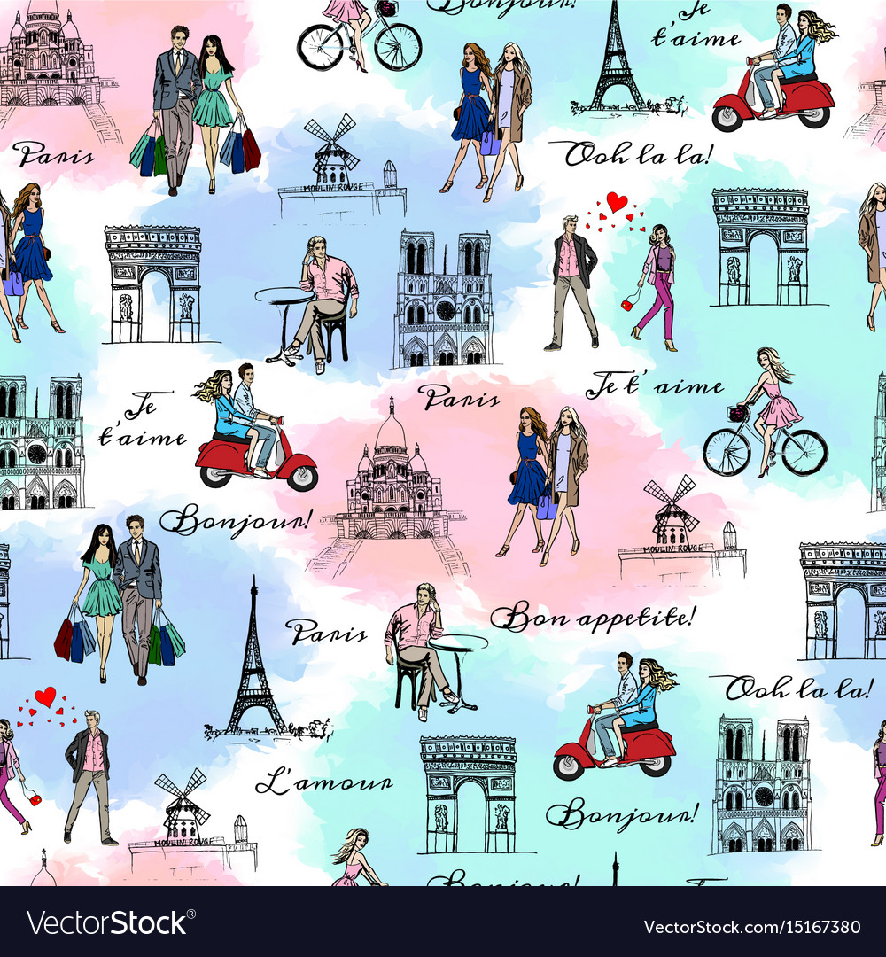 Paris sightseeings and people