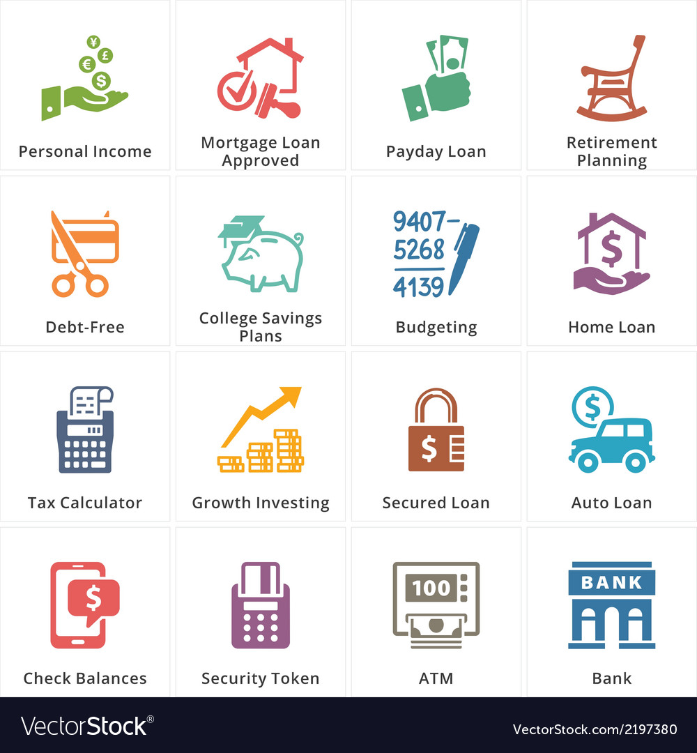 Personal Business Finance Icons Set 2