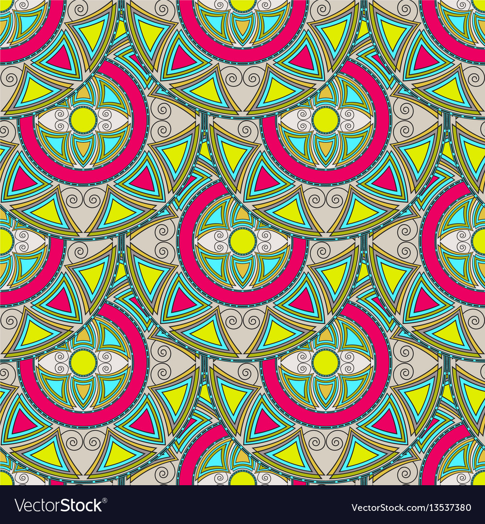 Seamless pattern from multicolored circles