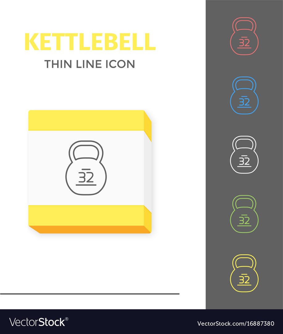 Simple line stroked kettlebell icon