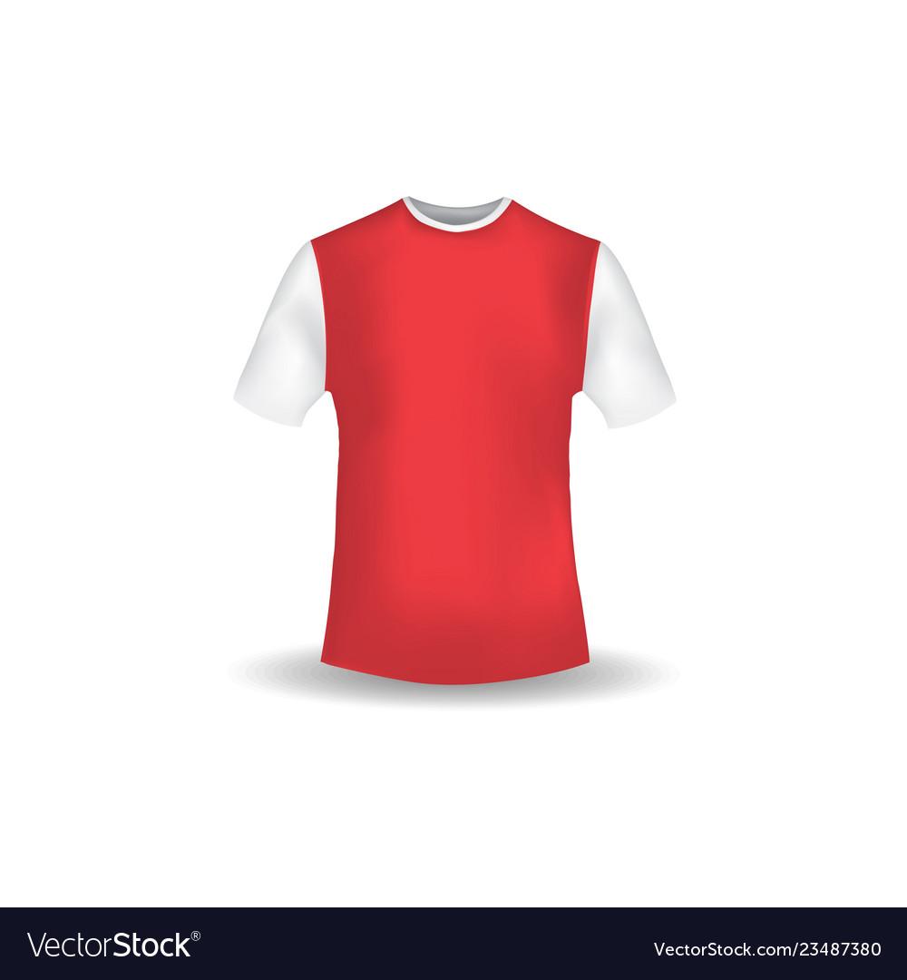 T Shirt Mockup Design Template Royalty Free Vector Image