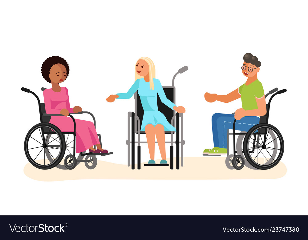 Wheelchair disabled young people