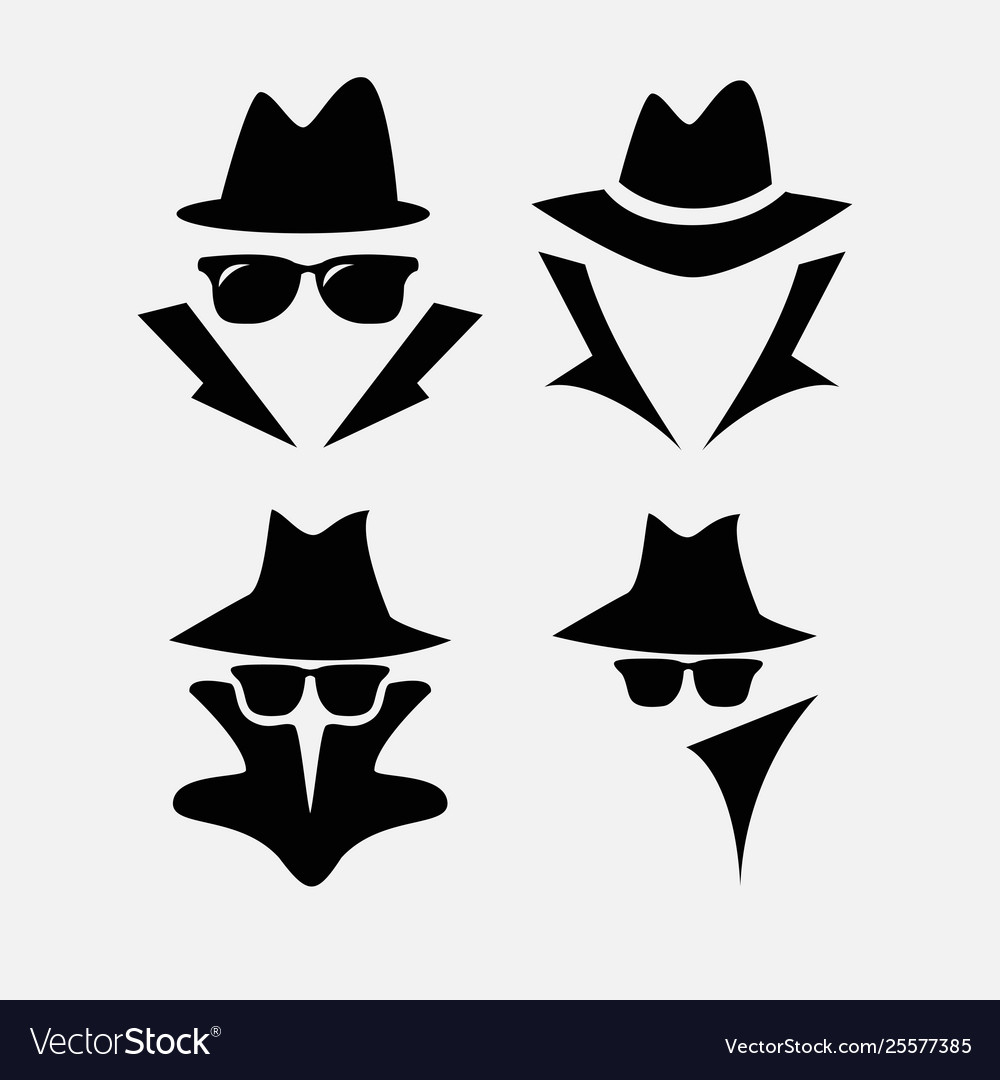 d0dff699f Detective icon isolated on white background vector image