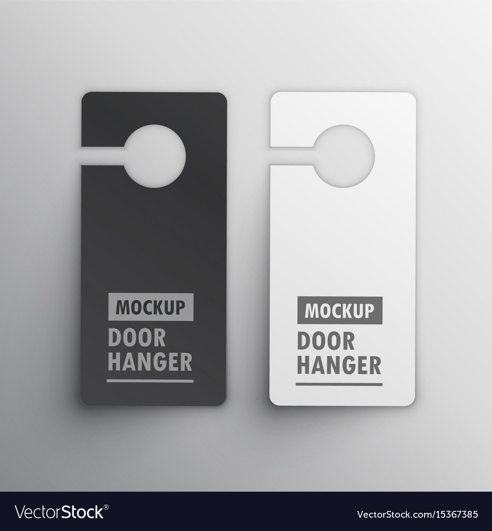 Door hanger mockup design vector