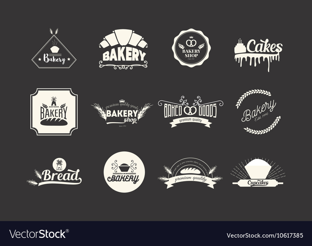 Et of bakery logos badges and emblems Food