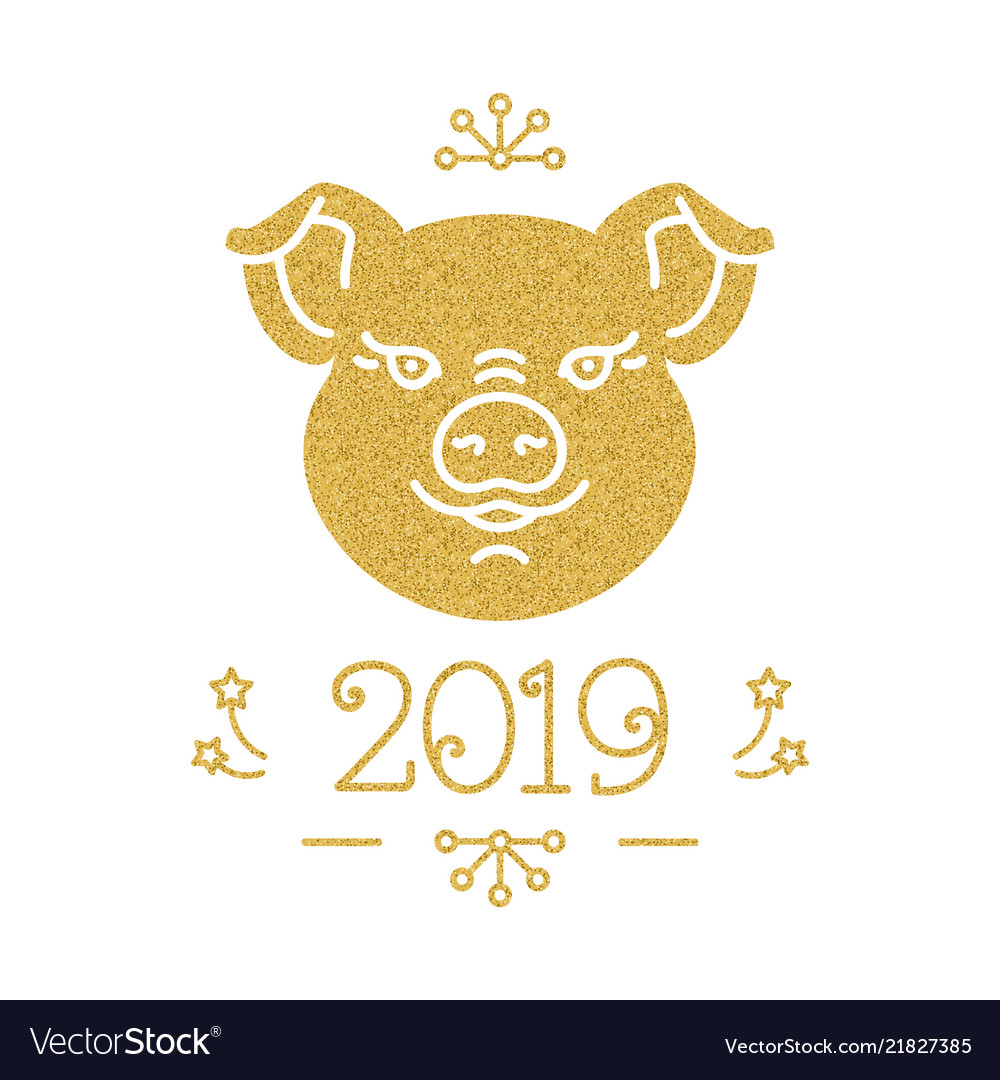 Happy new year and christmas card 2019 year