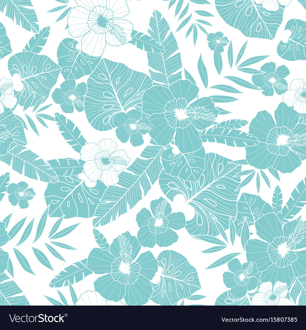 Light blue drawing tropical summer hawaiian