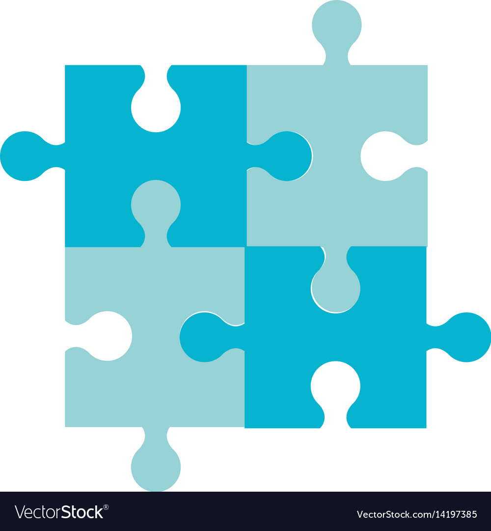 Puzzle jigsaw team piece icon