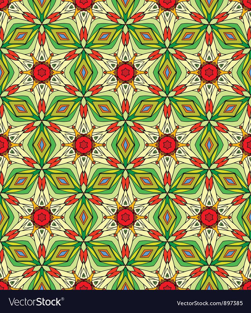 Seamless decorative color retro pattern