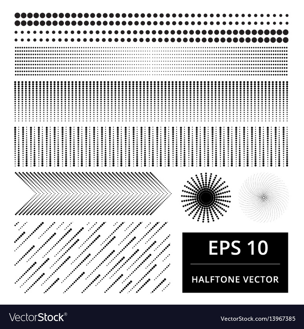 Set of abstract halftone element