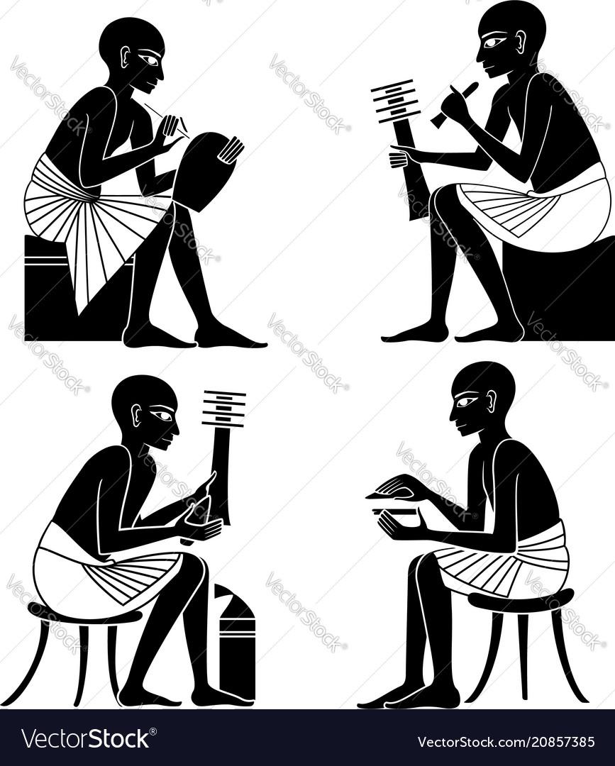 Set of egyptian ancient symbol
