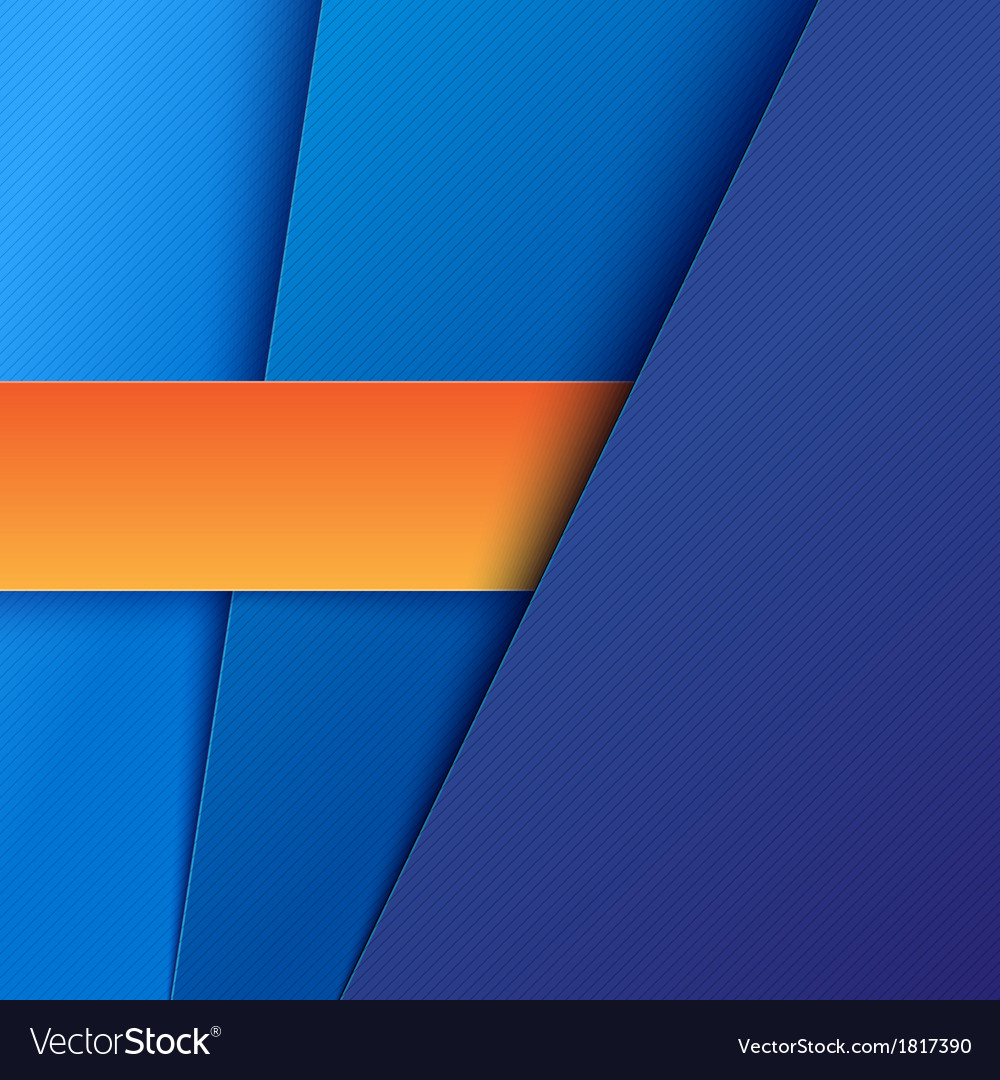 Abstract background with blue paper layers