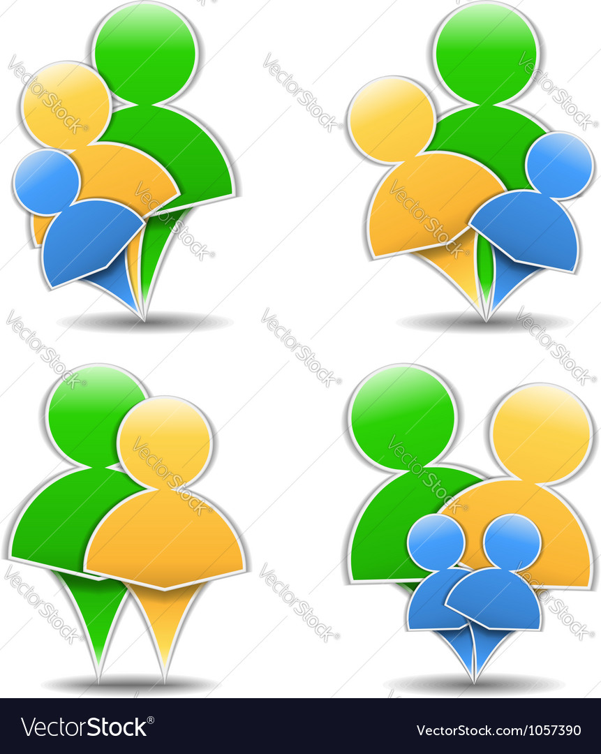 Abstract family icons vector image