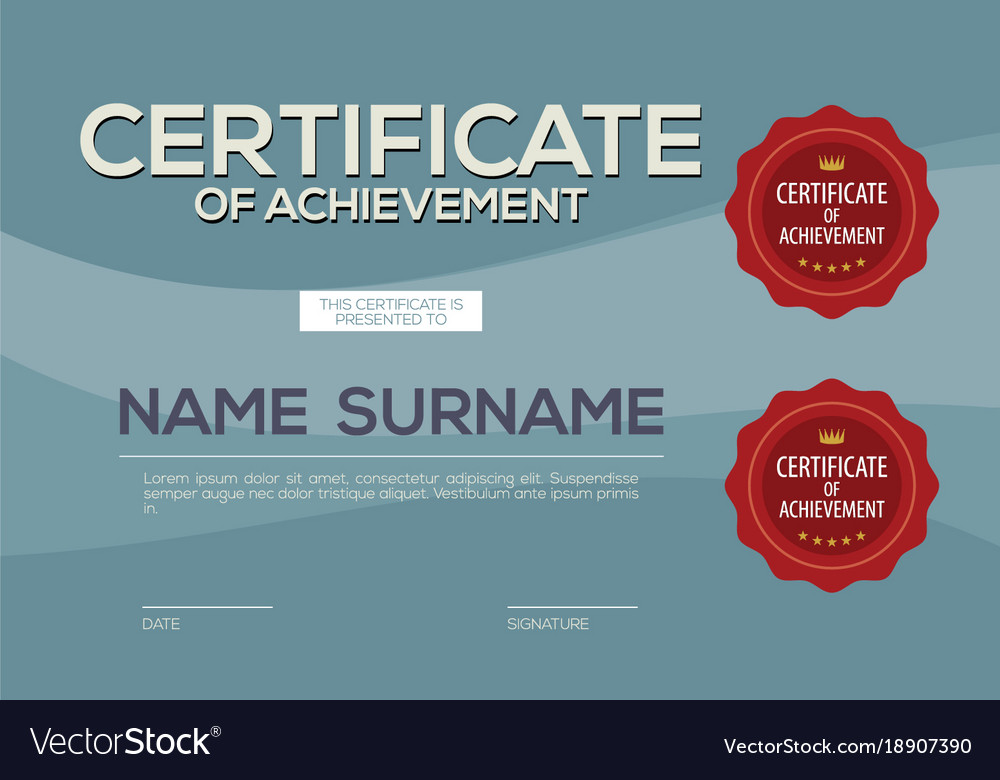 Blank Certified Border Template Royalty Free Vector Image