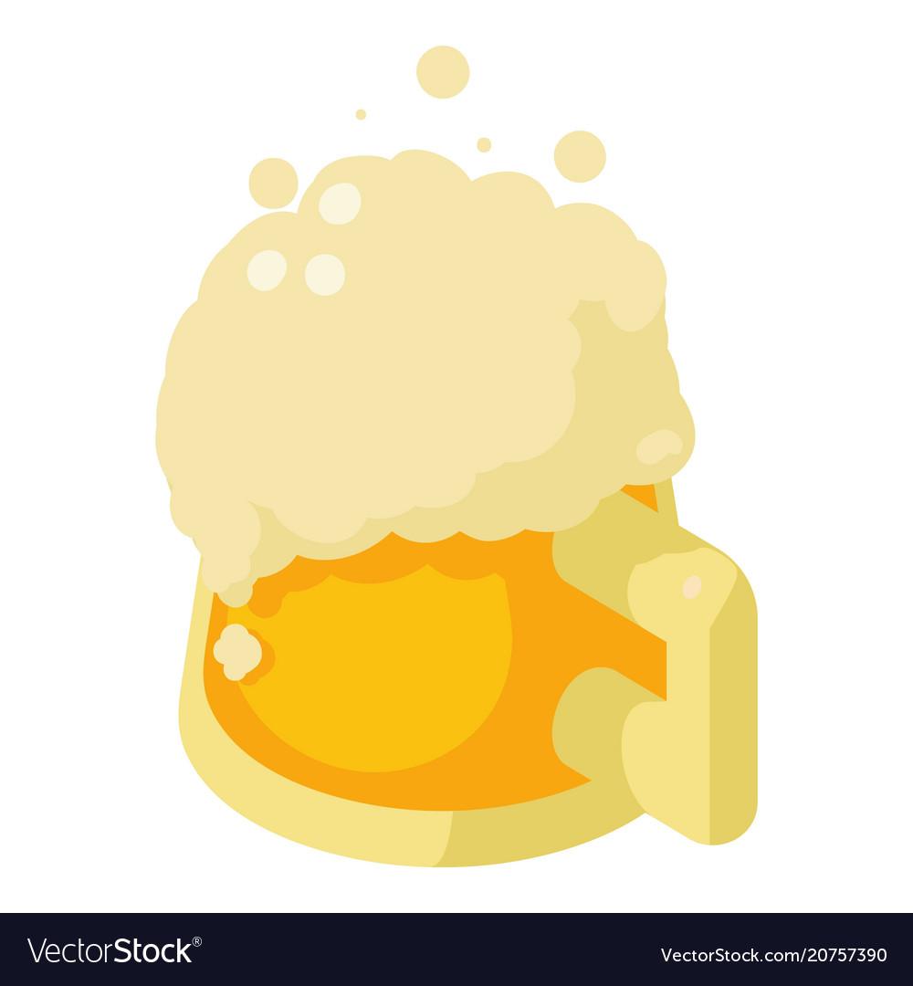 Mug of beer icon isometric style