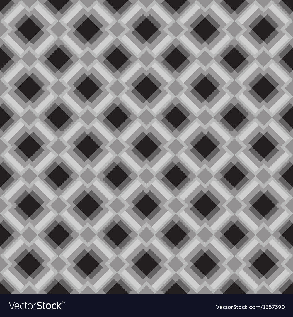 Seamless geometric pattern in gray colors vector image