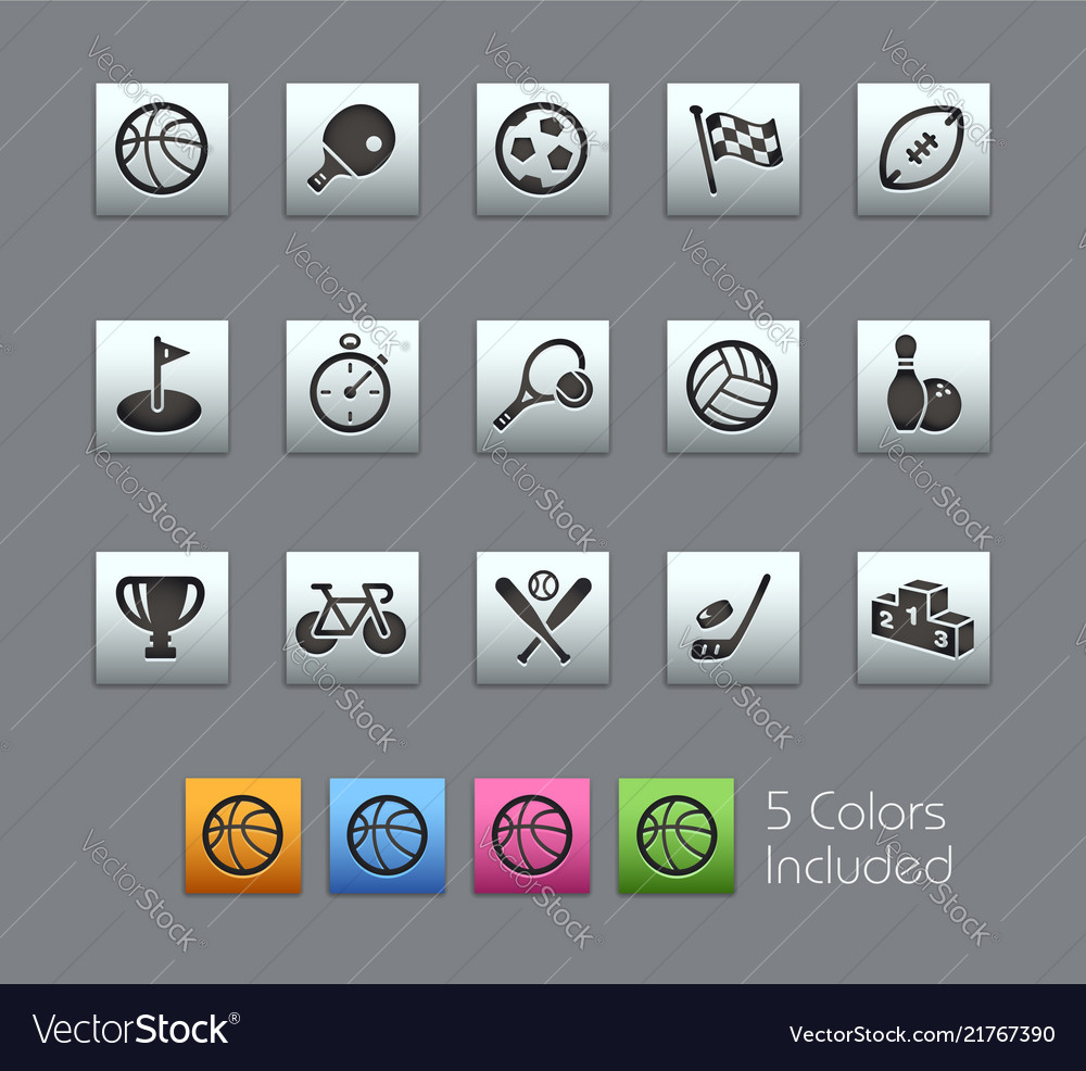 Sport icons - satinbox series
