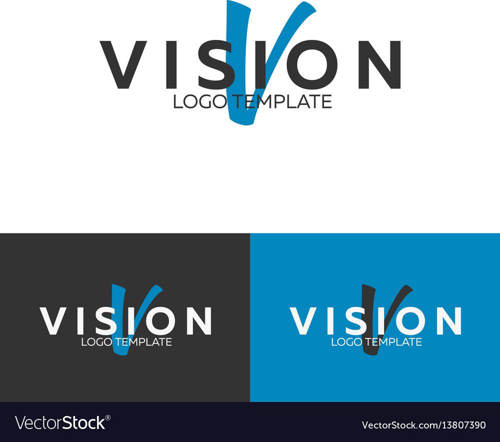 Vision logo letter v logo logo template