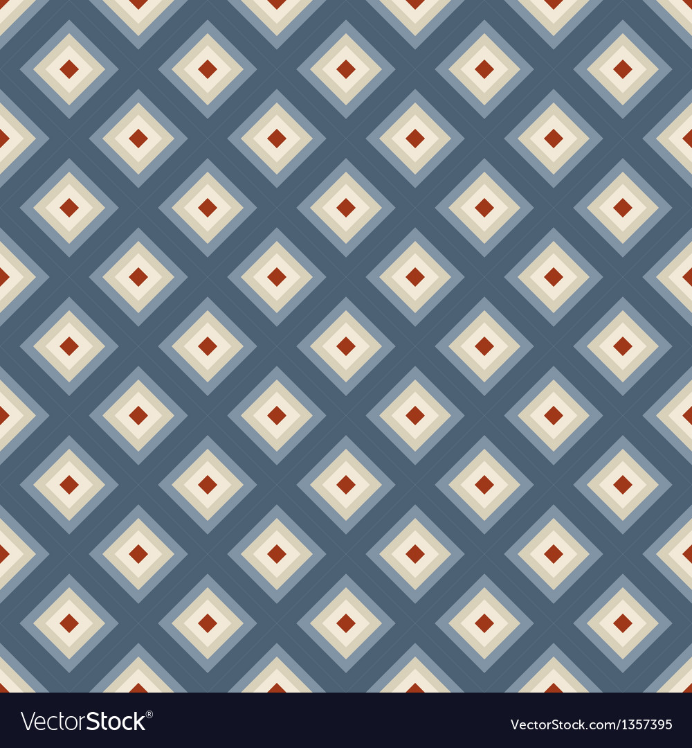 Geometric seamless pattern in retro style
