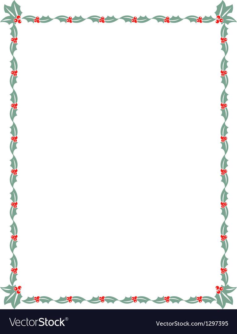 holly border royalty free vector image vectorstock