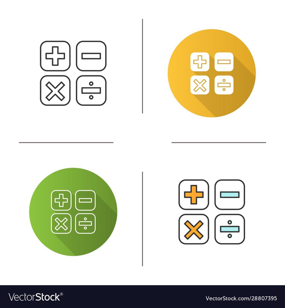 Maths symbols icon