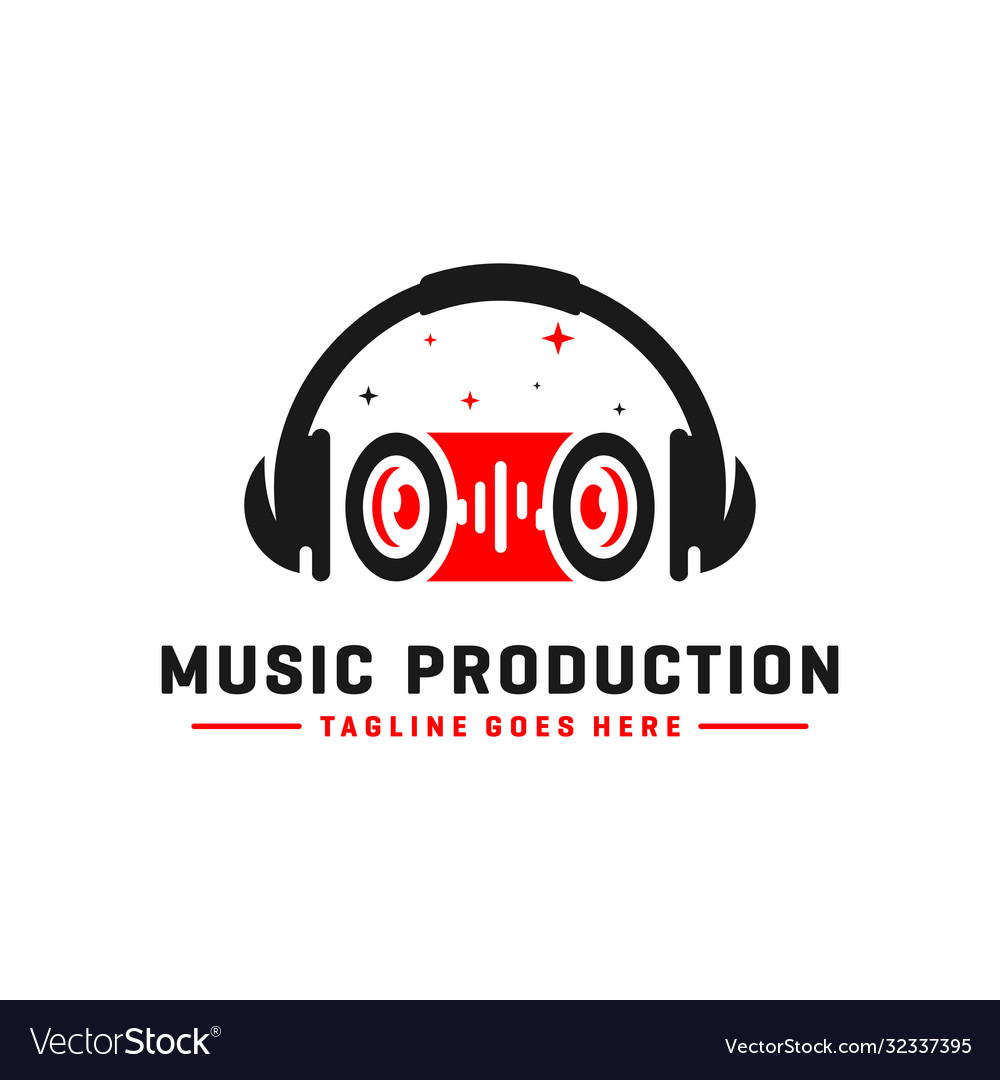 Music logo and headset