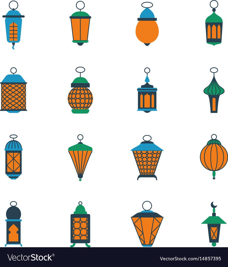 Old ramadan islamic lanterns arabic lamps